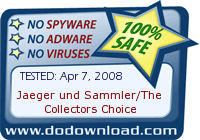 Jaeger und Sammler/The Collectors Choice is 100% SAFE